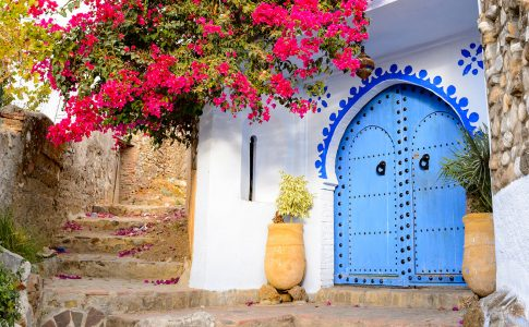 Chefchaouen Steps Jigsaw Puzzle