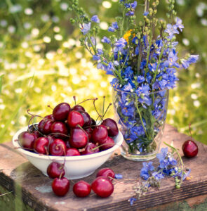 Cherries and Lilac Jigsaw Puzzle