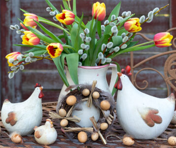 Chickens and Tulips Jigsaw Puzzle