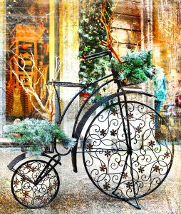 Christmas Bicycle Jigsaw Puzzle