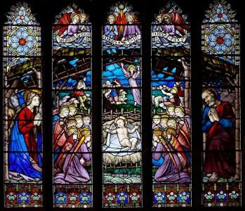 Christmas Nativity Window Jigsaw Puzzle