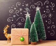 Christmas Trees and Deer