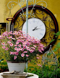 Clock and Flowers Jigsaw Puzzle