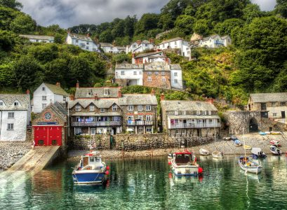 Clovelly Harbor Jigsaw Puzzle