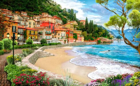 Coastal Village Jigsaw Puzzle