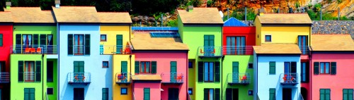 Colorful Apartments Jigsaw Puzzle