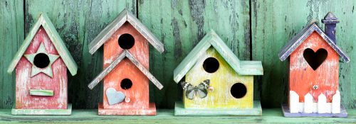 Colorful Birdhouses Jigsaw Puzzle