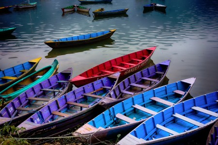 Colorful Canoes Jigsaw Puzzle