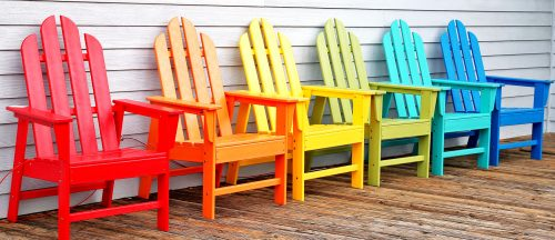 Colorful Chairs Jigsaw Puzzle