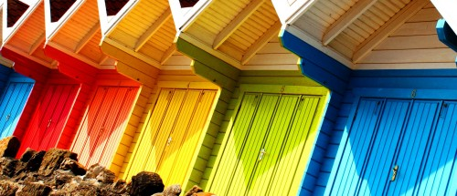 Colorful Huts Jigsaw Puzzle