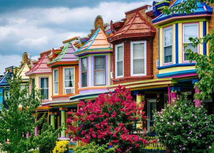 Colorful Row Houses Jigsaw Puzzle