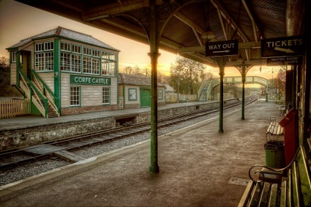 Corfe Castle Station Jigsaw Puzzle