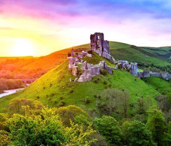 Corfe Castle Sunrise Jigsaw Puzzle