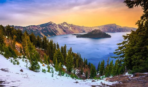 Crater Lake Park Jigsaw Puzzle