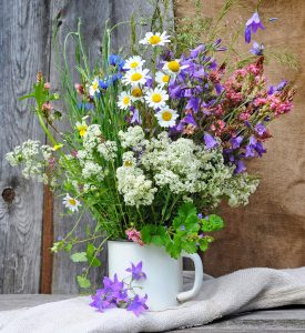 Cup of Wildflowers Jigsaw Puzzle