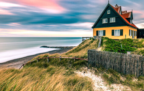 Danish Beach House Jigsaw Puzzle