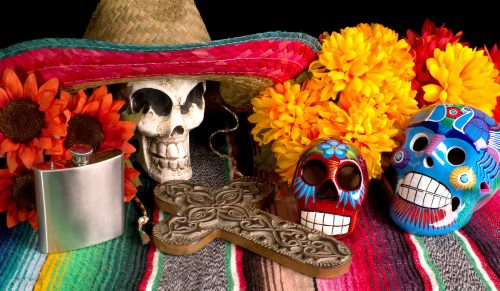 """Day of the Dead"" Table Jigsaw Puzzle"