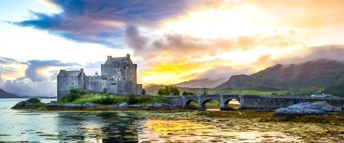 Donan Castle Sunset Jigsaw Puzzle