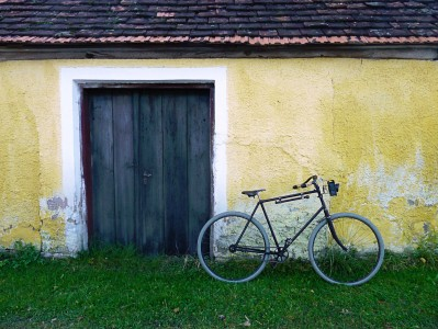 Door and Bike Jigsaw Puzzle