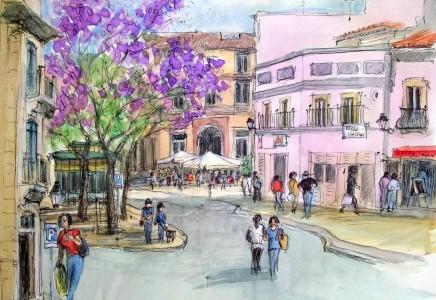 Downtown Faro Jigsaw Puzzle