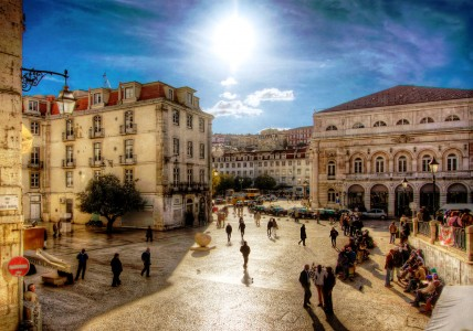 Downtown Lisbon Jigsaw Puzzle