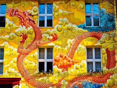 Dragon Mural Jigsaw Puzzle