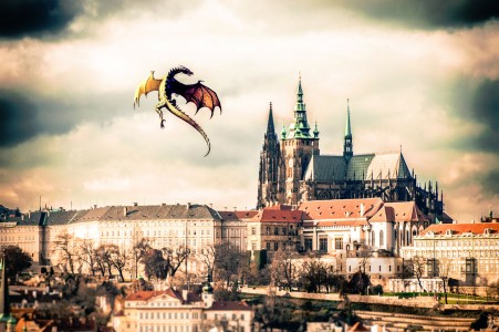 Dragon Over Prague Jigsaw Puzzle