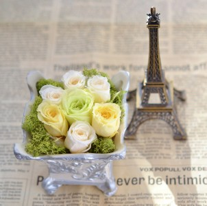 Eiffel and Roses Jigsaw Puzzle