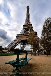 Eiffel Tower and Bench Jigsaw Puzzle
