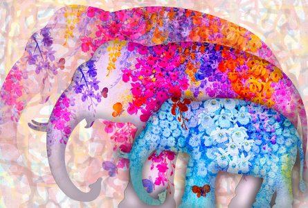 Elephant Art Jigsaw Puzzle