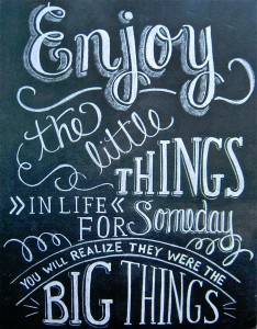 Enjoy the Little Things Jigsaw Puzzle