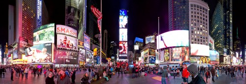 Evening at Times Square Jigsaw Puzzle