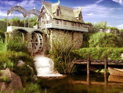 Fairytale Watermill Jigsaw Puzzle