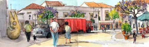 Faro Bus Stop Jigsaw Puzzle
