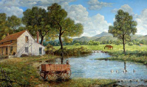 Fishing Wagon Jigsaw Puzzle