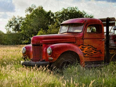 Flaming Truck Jigsaw Puzzle