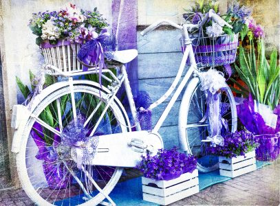 Floral Bike Jigsaw Puzzle
