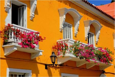 Flowering Balconies Jigsaw Puzzle