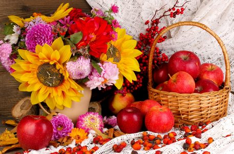 Flowers and Apples Jigsaw Puzzle