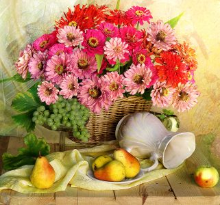 Flowers and Pears Jigsaw Puzzle