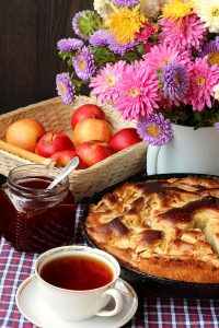Flowers, Apples, and Pie Jigsaw Puzzle
