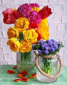 Flowers in Glass Vases Jigsaw Puzzle