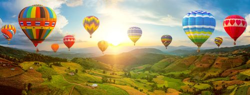 Flying Balloons Jigsaw Puzzle