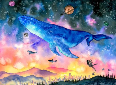 Flying Whale Jigsaw Puzzle