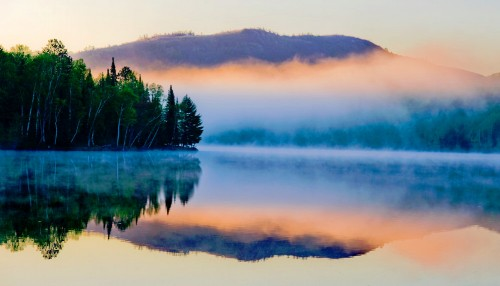 Foggy Lake Jigsaw Puzzle