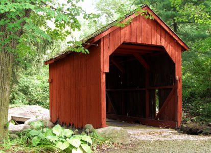 Forest Covered Bridge Jigsaw Puzzle
