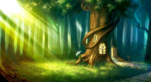 Forest Tree House Jigsaw Puzzle
