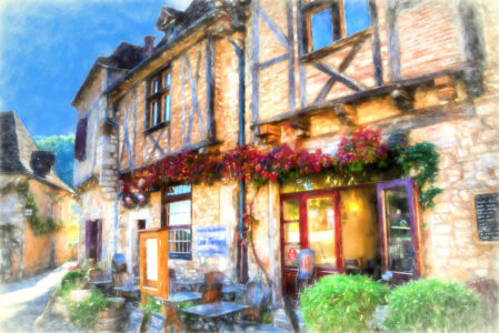 French Tea Room Jigsaw Puzzle