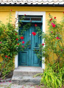 Front Door Roses Jigsaw Puzzle