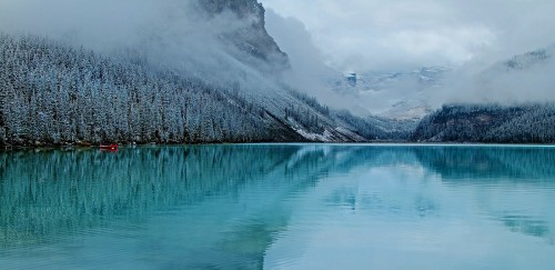 Frosty Lake Louise Jigsaw Puzzle